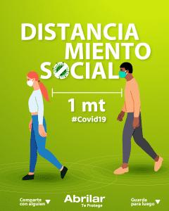 abrilar distancia social